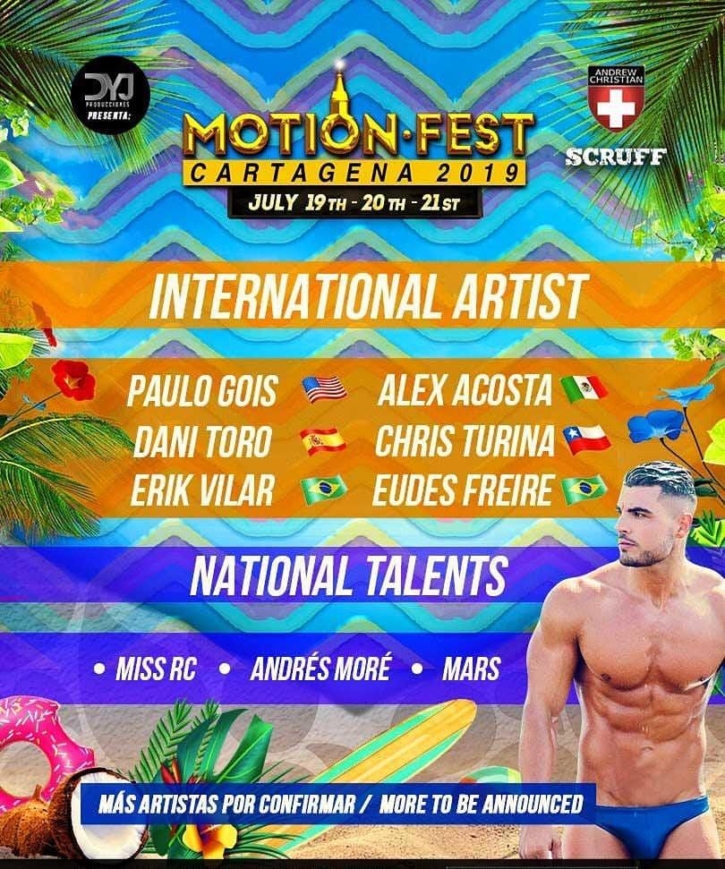 Flyer Motion Fest Cartagena 2019