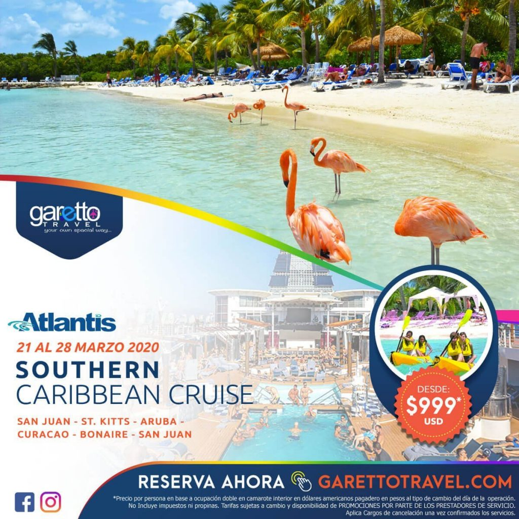 Southern Caribbean Cruise Atlantis - Garetto Travel